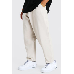 SKATE FIT COTTON TWILL CROPPED TROUSERS