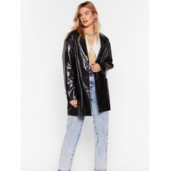 Why Croc Now Patent Faux Leather Jacket