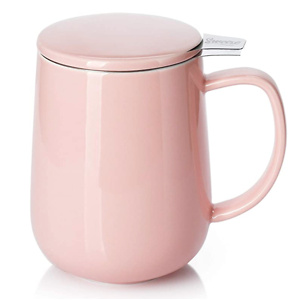 Sweese 204.108 Porcelain Tea Mug with Infuser and Lid