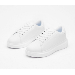 Just Run With It Faux Leather Sneakers