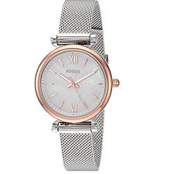 Fossil Women's Carlie Mini Stainless Steel Dress Quartz Watch