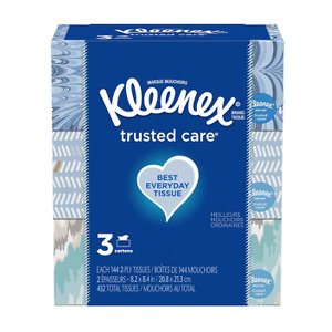 Kleenex Trusted Care 面巾纸抽 3盒