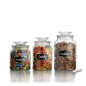 American Atelier Canister Set 3-Piece Glass Jars in 33oz
