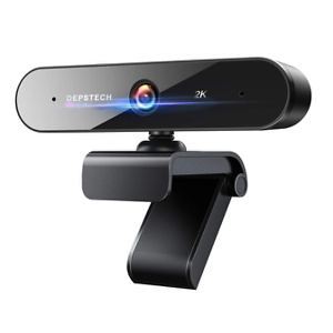 Webcam with Microphone, DEPSTECH 2K QHD USB Web Camera