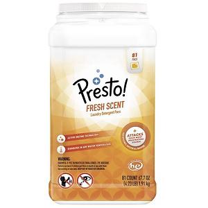 Presto! 亚马逊自营品牌 去渍果冻洗衣球 81颗