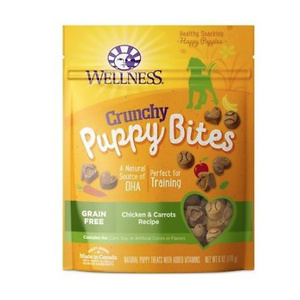 Wellness Grain-Free Crunchy Puppy Bites Chicken & Carrots Recipe Dog Treats