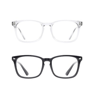 TIJN 2 Pack Blue Light Blocking Glasses