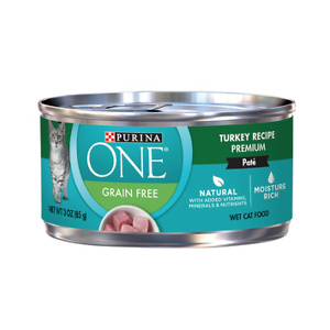 Purina ONE Turkey Recipe Pate Grain-Free Canned Cat Food