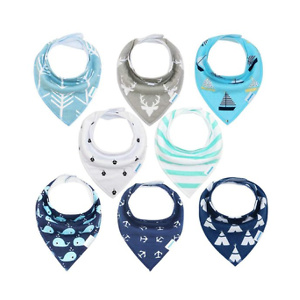 Baby Bibs 8 Pack Soft and Absorbent for Boys & Girls