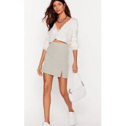 Check On Your Friends Slit Mini Skirt