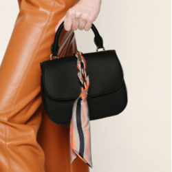 Braided Front Flap Bag