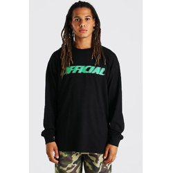 MAN WORLDWIDE FRONT AND BACK LONG SLEEVE T-SHIRT