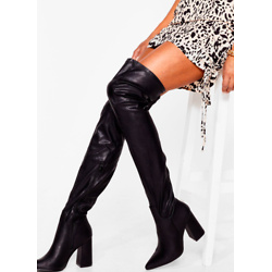 Livin' It Up Faux Leather Over-the-Knee Boots