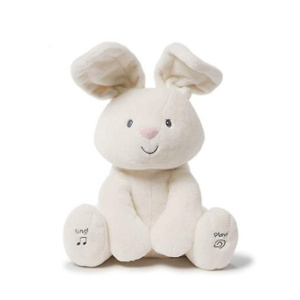 Baby GUND Flora The Bunny Animated Plush Stuffed Animal Toy, Cream, 12""