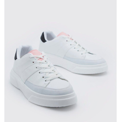 CONTRAST TONGUE TAB SNEAKERS