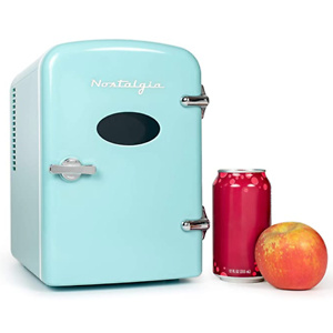 Nostalgia RF6RRAQ Retro 6-Can Personal Cooling and Heating Mini Refrigerator
