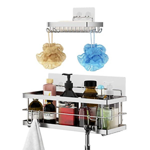 Shower Caddy + Soap Dish with Hooks