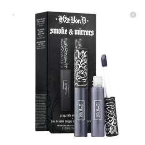 KVD Vegan Beauty Kitten Mini Smoke & Mirrors Grayscale Mini Lip Everlasting Liquid Lip Duo