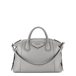 GIVENCHY Antigona Soft medium grey leather tote