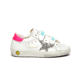 GOLDEN GOOSE OLD SCHOOL' SEQUIN STAR PATCH TODDLER LEATHER SHOES