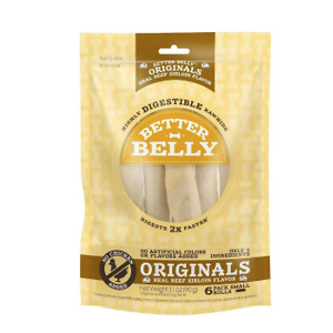 Better Belly Originals Real Beef Sirloin Flavor Rawhide Roll Dog Treats