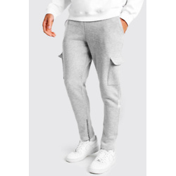 TAPERED FIT CARGO JOGGERS WITH ZIP POCKETS