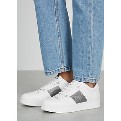 JIMMY CHOO Hawaii white leather sneakers
