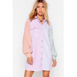 灯芯绒衬衫裙