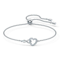 Swarovski Women's Infinity Heart Bangle Bracelet