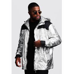 金属质感防风卫衣