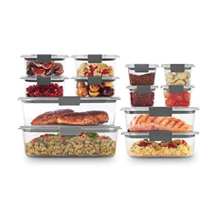 Rubbermaid Brilliance Storage 24-Piece Plastic Lids