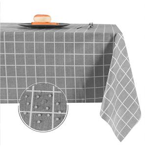 Obstal 复古PVC格子桌布 防水防油