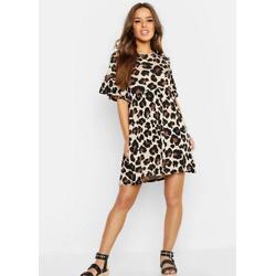 Petite Leopard Print Smock Dress