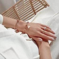 Alta rose gold pearl bracelet