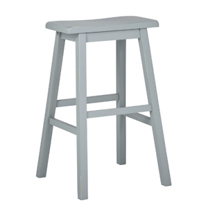 Amazon Brand – Stone & Beam Cottage Wood Saddle Kitchen Bar Counter Stool