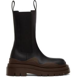 Bottega Veneta 厚底真皮踝靴