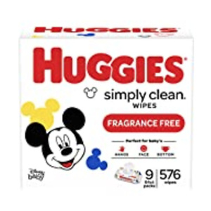 Huggies Simply Clean Unscented Baby Wipes, 11 Flip-Top Packs (704 Wipes Total)