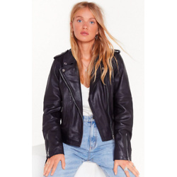 Bigger the Better Oversized Leather Jacket