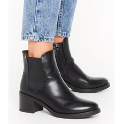 Nothing Toe Lose Faux Leather Chelsea Boots