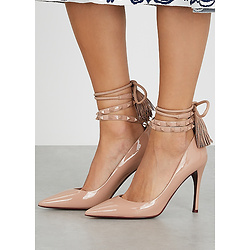 VALENTINO Valentino Garavani Flair 100 almond leather pumps