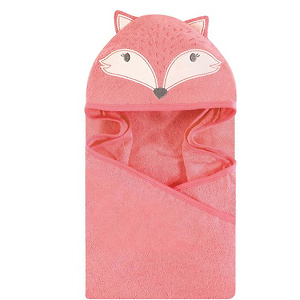 Hudson Baby Unisex Baby Cotton Animal Face Hooded Towel