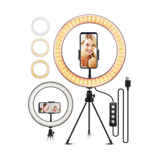"10.2"" Selfie Ring Light with Tripod Stand"