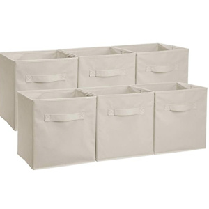 AmazonBasics Collapsible Fabric Storage Cubes Organizer