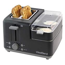 West Bend 78500 2-Slice Breakfast Station Wide Slot Toaster