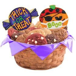 Pumpkin Bash Masks Cookie Basket