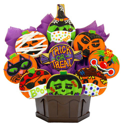 Pumpkin Bash Masks Cookie Bouquet