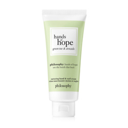green tea & avocado hand cream hands of hope
