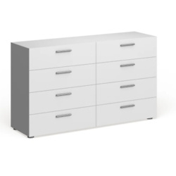 Porch & Den Angus Space-saving Foiled Surface 8-drawer Double Dresser - White