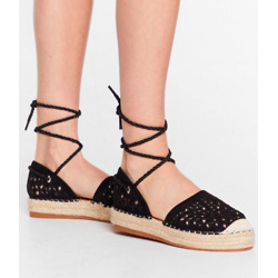 It's Crochet With Us Tie Espadrille Sandals
