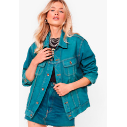 Nasty Gal Vintage Dye-ing to See Ya Denim Jacket